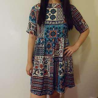 Boohoo Printed Dress