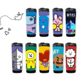 BT21 BTS tumbler cup Bangtan boys Water tumbler Water bottle Drinking cup
