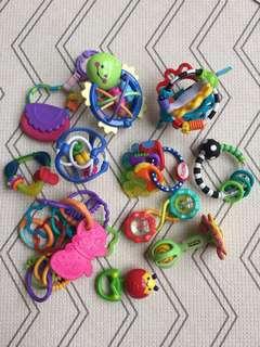 Baby stroller pram toys, rings, links / teething / teething / motorskill toys