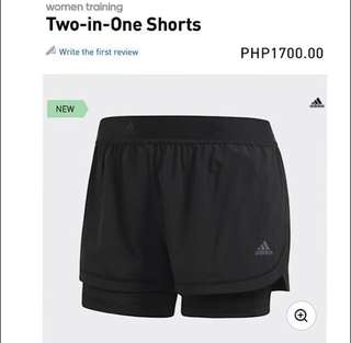 SaLe‼️Adidas Women Training Two-in-One Shorts