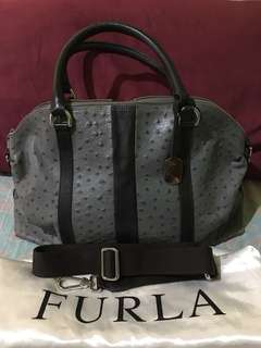Authentic Furla Ostrich leather