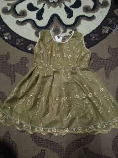 Tailor made gown for toddler 12-18mth