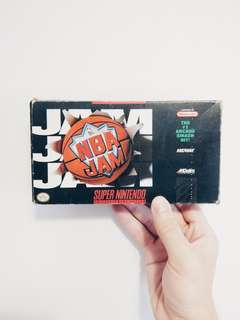Super Nintendo NBA Jam Game Catridge With Original Box and Manual