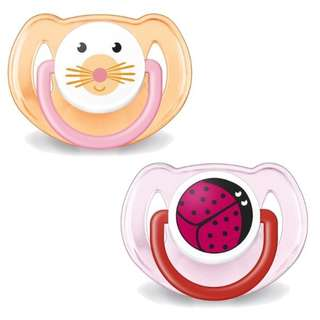 Philips Avent, Orthodontic, Soft Silicone Pacifier, 6-18 Months, 2 Pcs
