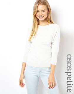 ASOS white 3/4 Long sleeve with pocket Ranglan