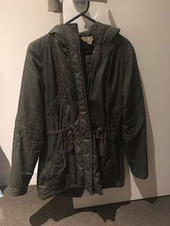 ArmyGreen rain wind jacket