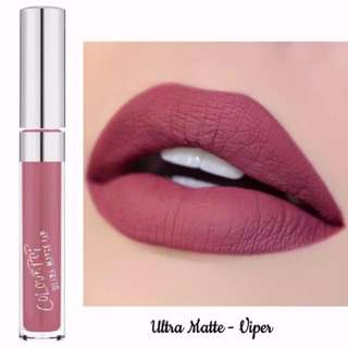 ✨INSTOCK SALE COLOURPOP ULTRA MATTE LIP IN VIPER