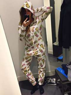 H&M Pizza Onesie Overall