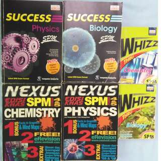 SPM SUCCESS / NEXUS / WHIZZ Reference Book ( Biology / Physics / Chemistry)