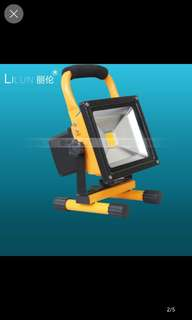 50W Portable Rechargeable LED Light (Waterproof)