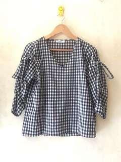 Plaid blouse