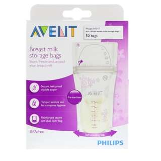 Philips Avent, Breast Milk Storage Bags, 50 Bags, 6 oz (180 ml) Each