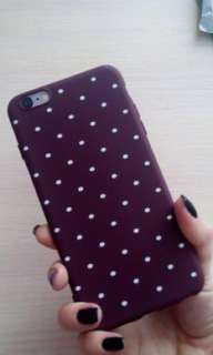 🔥Maroon Silicon Dots iPhone Case🔥