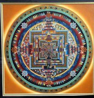 Kalachakla Mandala - Hand Painted