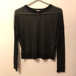 Mesh forever 21 long sleeve active shirt