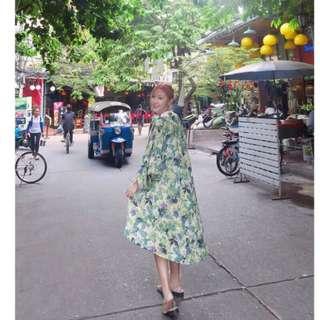 二手轉賣 正韓 Chingoods 茉莉與紫羅蘭-清新微透膚棉麻罩衫