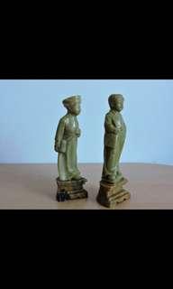 50-60年代 寿山石雕孩童一对