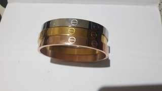 Cartier inspired tricolor bangles