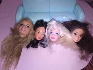 Barbie doll heads flawed hair