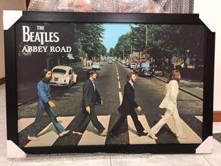 Beatles Poster c/w frame (original print, glossy paper)