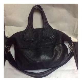 (二手品) 最後劈價 $3800 真品 Givenchy Nightingale Bag Black Handbag有卡有塵袋有單ORI$15,900