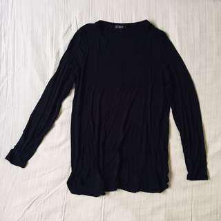 CO NAVY LONG SLEEVE TOP