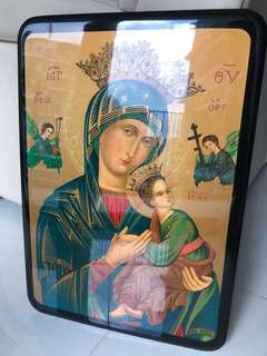 Mother Mary lacquer poster