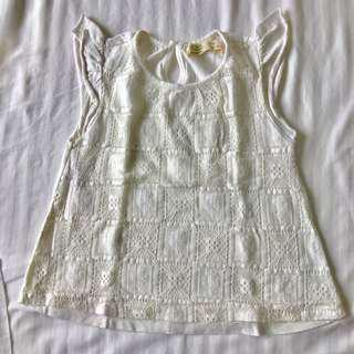 Zara white blouse