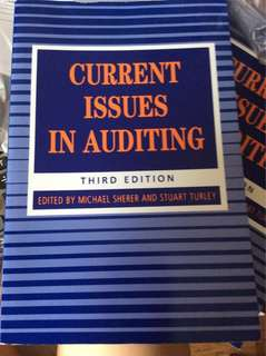 CURRENT ISSUES IN AUDITING