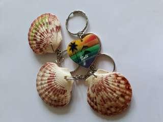 SeaShells &  Heart -Shaped Keychain