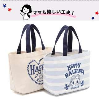 美國 Happy Haleiwa 紅髮女孩 藍色條紋 帆布袋 手提袋 購物袋 環保袋 便當袋