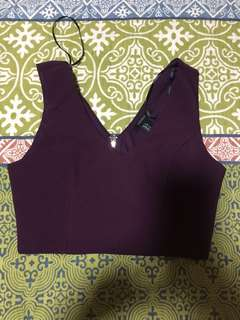 Plum crop top