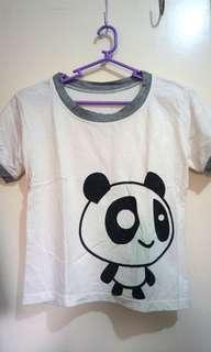 SALE!! Panda Ringer Cropped Top