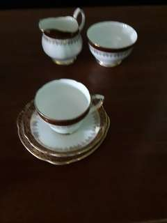 Cup saucer and plate