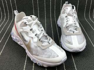 Nike React Element 87 'White/ Cream/ Red'