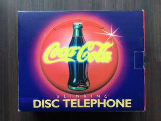 Coca Cola Blinking Disc Telephone Coke Phone