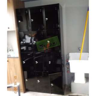 BLACK 12 DOOR LOCKER CABINET--KHOMI