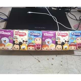 Kleenex Disney Tsum Tsum 迪士尼 包裝紙巾(一條有18包)