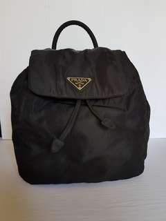 Authentic small prada backpack