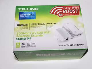 TP-LINK 4220 wireless homeplug router kit