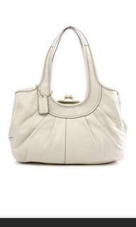 Coach Ergo Patent Leather Pleated Kisslock Bag 12520   #july50
