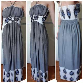BNWOT Qoosh 2 Way Tube Halter Maxi Dress ✔