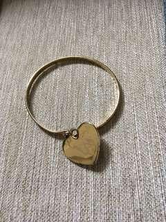 Gold Heart Cuff