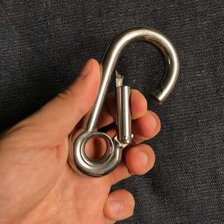 Heavy Duty Marine Grade Stainless Steel Carabiner Large
