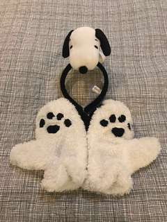 Snoopy headband & gloves