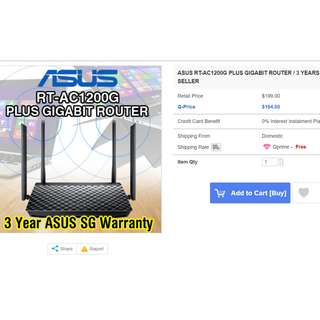 New Unopened ASUS RT-AC1200G+ Router