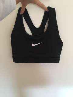 Nike black sports bra