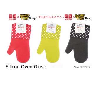 Japan Quality - Sarung tangan oven anti panas miniso silicon glove