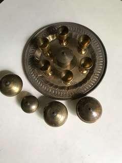 12 pcs Brass set
