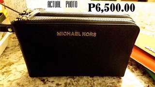 MK double zip pouch